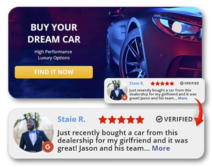 Reviews on your site